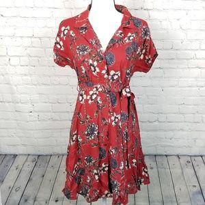 Angie Crochet Back Floral Print Dress NWT